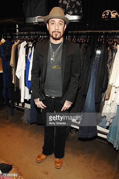 Musician A.J. McLean attends the Hysteric Glamour Party at the Tracey Ross Boutique on January 17, 2008 in West Hollywood, California.