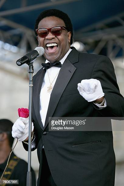 Musician Al Green performs at the JVC Jazz Festival Newport at Fort Adams State Park August 12 2007 in Newport Rhode Island