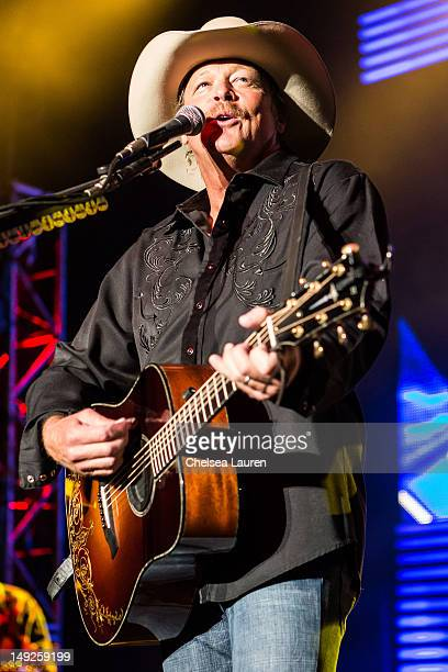 Musician Alan Jackson performs at The Greek Theatre on July 25, 2012 in Los Angeles, California.