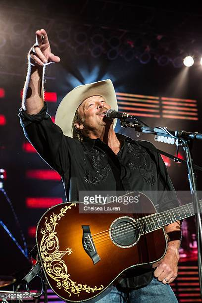 Musician Alan Jackson performs at The Greek Theatre on July 25 2012 in Los Angeles California