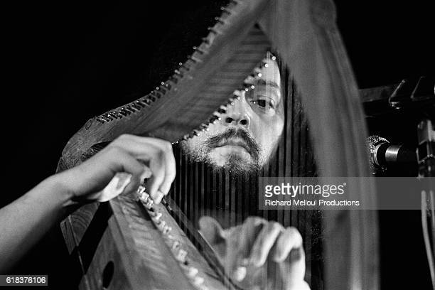 Musician Alan Stivell plays the harp during a concert in France Stivell known for his Breton harp playing is credited with reviving Celtic music in...