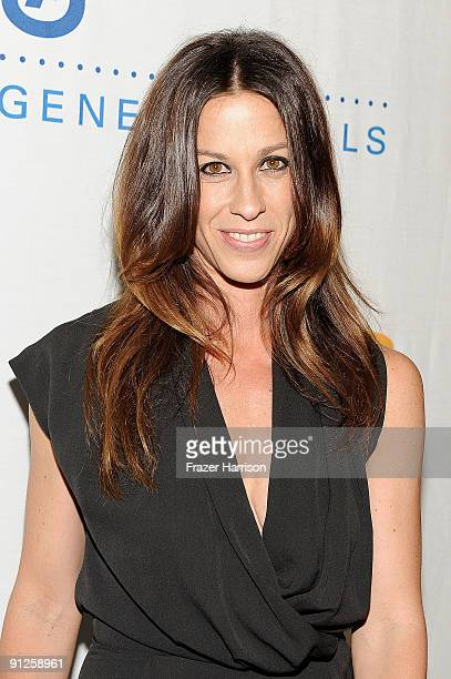 Musician Alanis Morissette arrives at the Rock A Little Feed Alot benefit concert held at Club Nokia on September 29 2009 in Los Angeles California