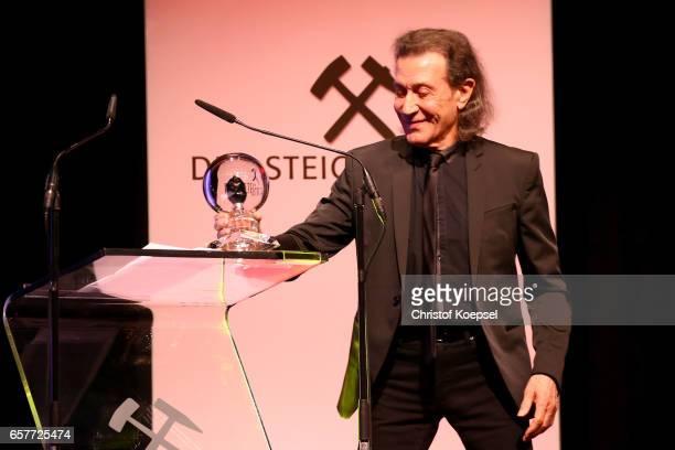 Musician Albert hammond speaks after winning the music award during the Steiger Award on at Coal Mine Hansemann Alte Kaue March 25 2017 in Dortmund...