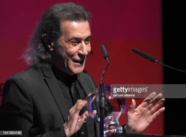 Musician Albert Hammond stands on stage with his award for the music category at the 'Steiger Awards' in Dortmund Germany 25 March 2017 Photo Henning...