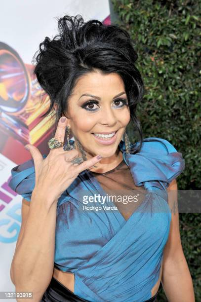 Musician Alejandra Guzman arrives at the 12th Annual Latin GRAMMY Awards held at the Mandalay Bay Resort Casino on November 10 2011 in Las Vegas...