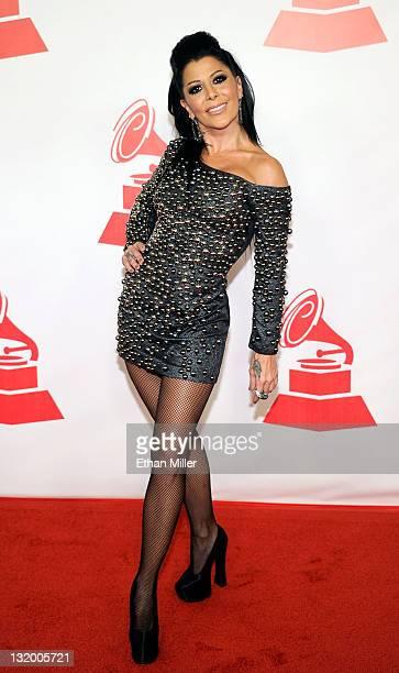 Musician Alejandra Guzman arrives at the 2011 Latin Recording Academy's Person of the Year honoring Shakira at Mandalay Bay Resort & Casino on...