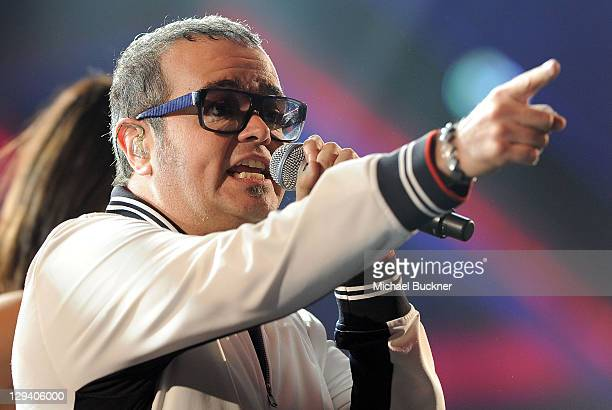 Musician Aleks Syntek performs onstage during the 11th Annual Latin GRAMMY Awards Rehearsals day 1 held at the Mandalay Bay Events Center on November...