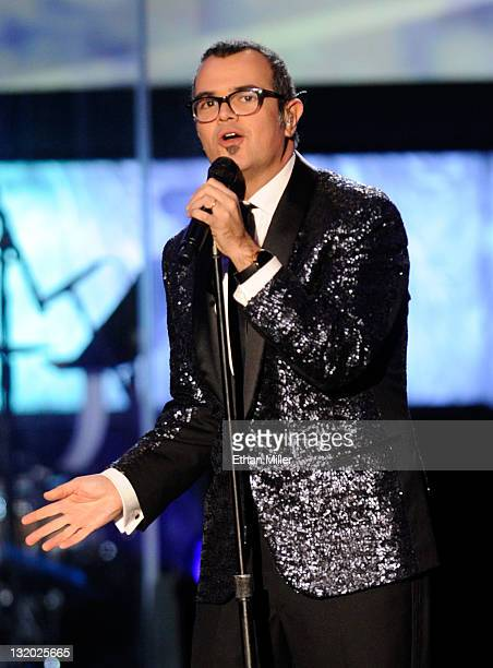 Musician Aleks Syntek performs onstage during the 2011 Latin Recording Academy's Person of the Year honoring Shakira at Mandalay Bay Resort Casino on...