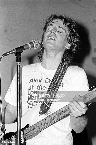 Musician Alex Chilton performs at Mickey Ruskin's Lower Manhattan Ocean Club New York New York April 19 1977