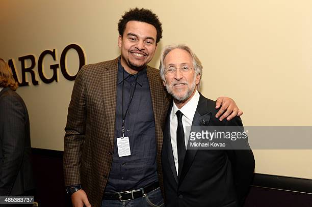 Musician Alex da Kid and National Academy of Recording Arts and Sciences President Neil Portnow attend the 56th GRAMMY Awards at Staples Center on...