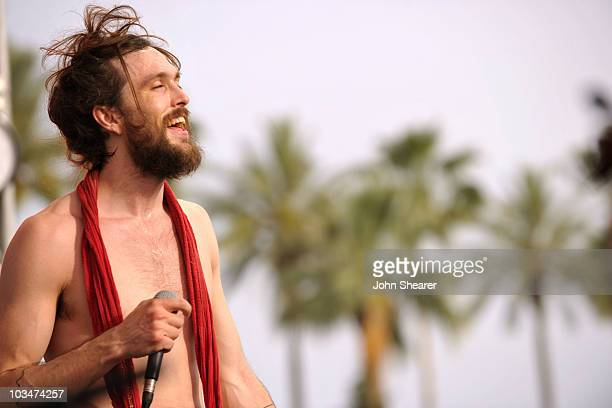 Musician Alex Ebert of Edward Sharpe and the Magnetic Zeros performs during Day 2 of the Coachella Valley Music Art Festival 2010 held at the Empire...