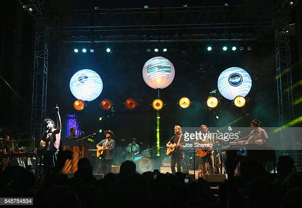 Musician Alex Ebert of Edward Sharpe And The Magnetic Zeros performs onstage during the Annenberg Foundation and KCRW's 'Sound In Focus' Concert...