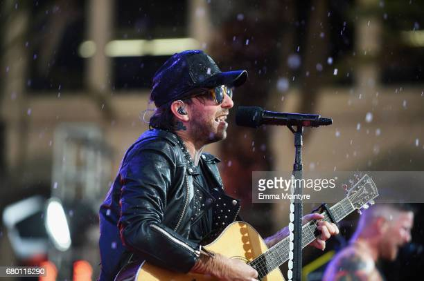 Musician Alex Gaskarth of the musical band All Time Low performs onstage at the 2017 MTV Movie And TV Awards Festival at The Shrine Auditorium on May...