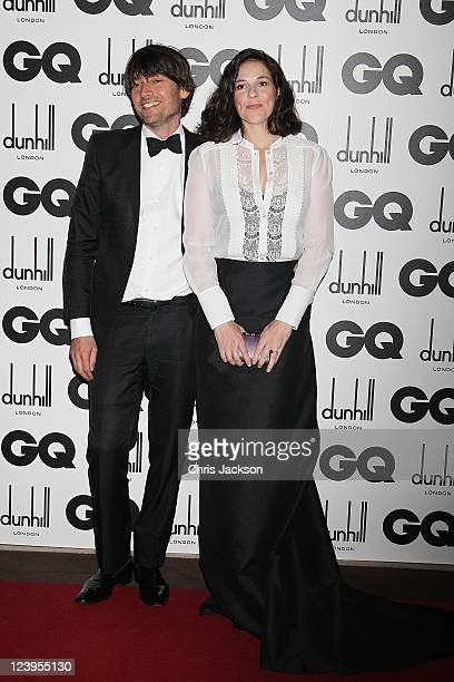 Musician Alex James and wife Claire Neate attends the GQ Men Of The Year Awards at The Royal Opera House on September 6 2011 in London England