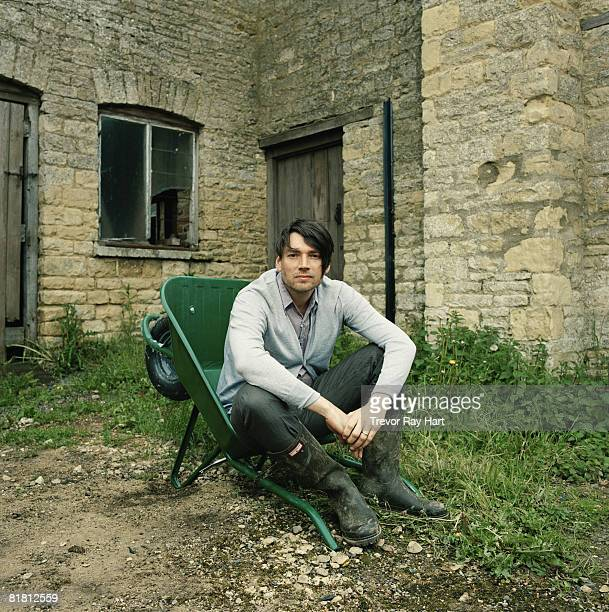 Musician Alex James poses for a portrait shoot for the Independent magazine at his Cotswold farm on May 17 2007