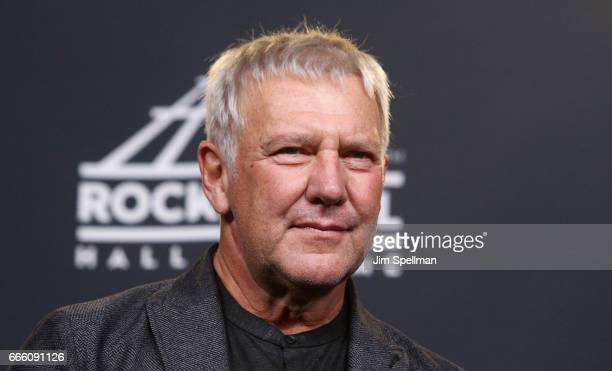 Musician Alex Lifeson attends the Press Room of the 32nd Annual Rock Roll Hall Of Fame Induction Ceremony at Barclays Center on April 7 2017 in New...