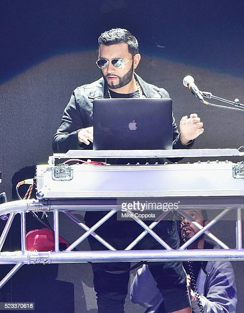 Musician Alex Sensation performs at Mega Mezcla 2016 at Prudential Center on April 22 2016 in Newark New Jersey