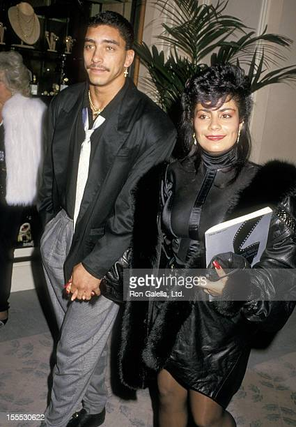 Musician Alex Spanador Moseley and singer Lisa Lisa attend the Fifth Annual American Cinema Awards on January 30 1988 at Beverly Hilton Hotel in...