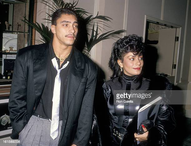 Musician Alex 'Spanador' Moseley and singer Lisa Lisa attend the Fifth Annual American Cinema Awards on January 30 1988 at Beverly Hilton Hotel in...