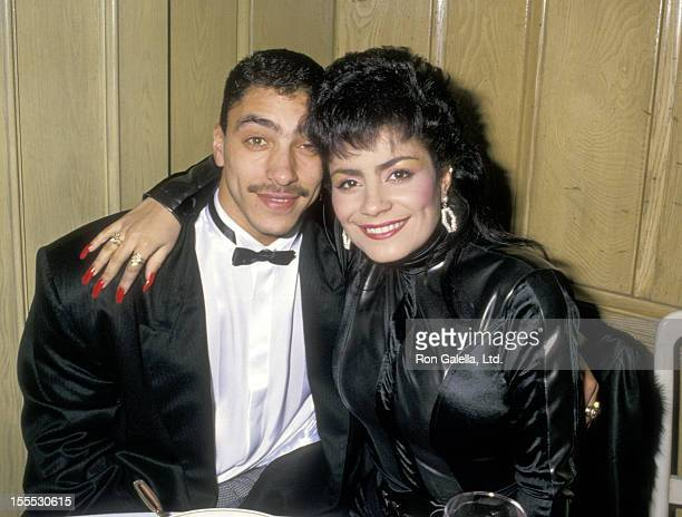 Musician Alex Spanador Moseley and singer Lisa Lisa attends the 15th Annual American Music Awards on January 25 1988 at Chasen's Restaurant in...