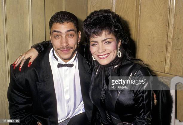 Musician Alex 'Spanador' Moseley and singer Lisa Lisa attends the 15th Annual American Music Awards on January 25 1988 at Chasen's Restaurant in...
