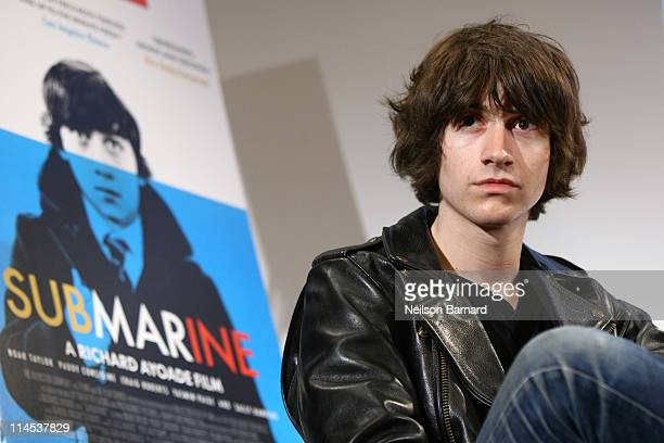 Musician Alex Turner attends the 'Submarine' press conference at the Crosby Street Hotel on May 23 2011 in New York City