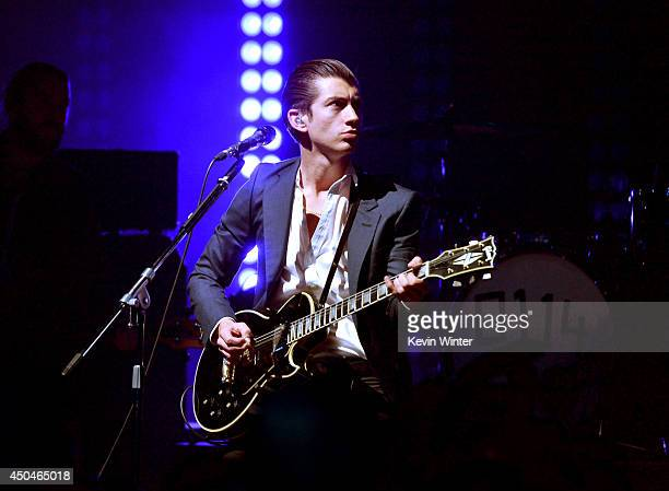 Musician Alex Turner of Arctic Monkeys performs onstage at Arctic Monkeys for iHeartRadio Live at iHeartRadio Theater on June 11 2014 in Burbank...