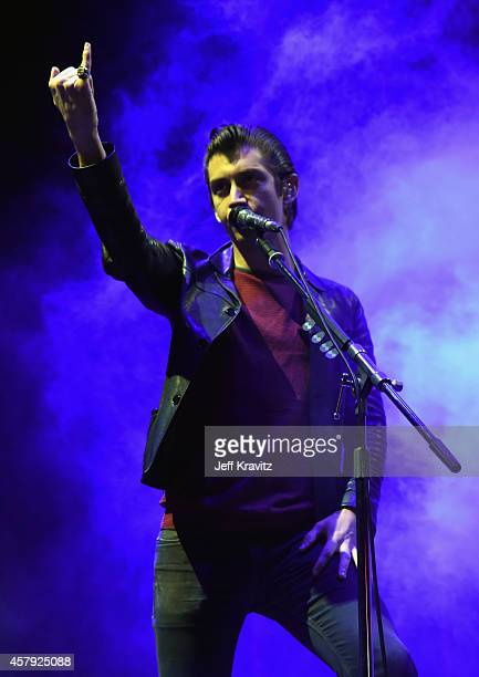 Musician Alex Turner of Arctic Monkeys performs onstage during day 3 of the 2014 Life is Beautiful festival on October 26 2014 in Las Vegas Nevada