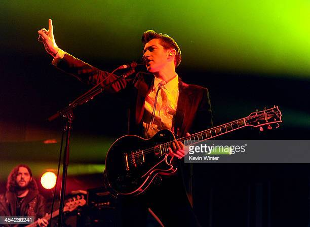 Musician Alex Turner of Arctic Monkeys performs onstage during The 24th Annual KROQ Almost Acoustic Christmas at The Shrine Auditorium on December 7...