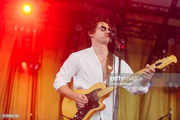 Musician Alex Turner of 'Last Shadow Puppets' performs onstage on Day 2 of the WayHome Music and Arts Festival on July 23 2016 in OroMedonte Canada