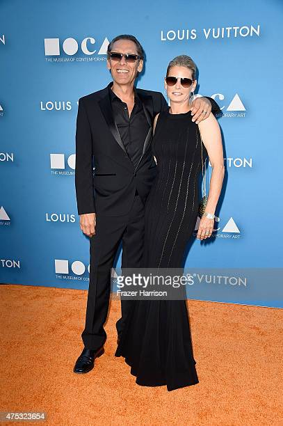 Musician Alex Van Halen and Stine Van Halen attend the 2015 MOCA Gala presented by Louis Vuitton at The Geffen Contemporary at MOCA on May 30 2015 in...