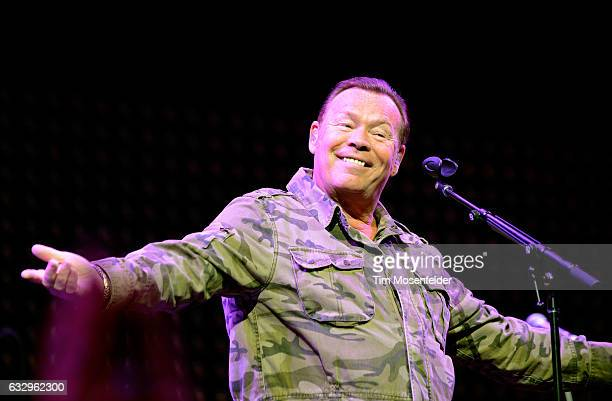 Musician Ali Campbell of UB40 performs on stage during the iHeart80s Party 2017 at SAP Center on January 28 2017 in San Jose California