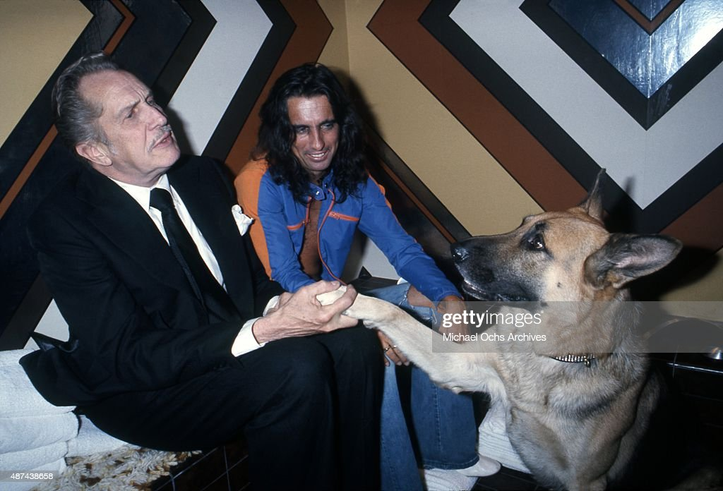 Alice Cooper And Vincent Price : News Photo