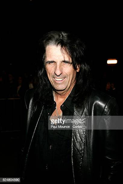 Musician Alice Cooper arrives at the premiere of The Jacket held at the Archlight Theatre in Hollywood