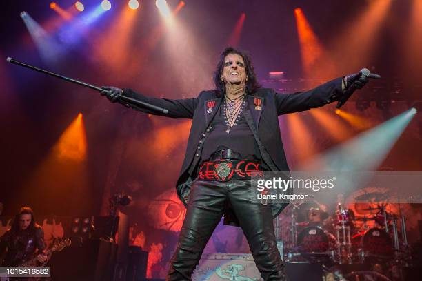 Musician Alice Cooper performs on stage at Pechanga Casino on August 11 2018 in Temecula California