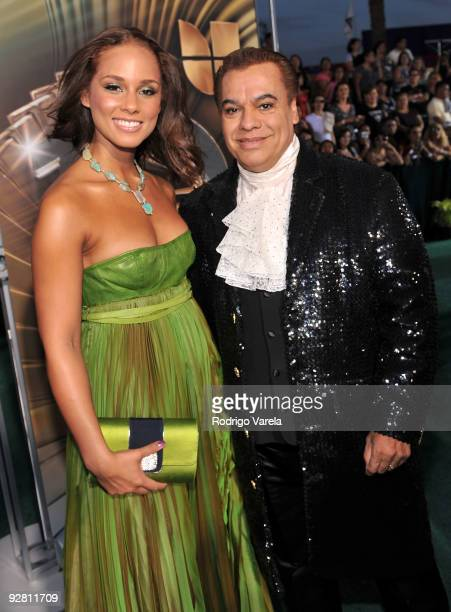 Musician Alicia Keys and singer Juan Gabriel attend the 10th Annual Latin GRAMMY Awards held at the Mandalay Bay Events Center on November 5 2009 in...