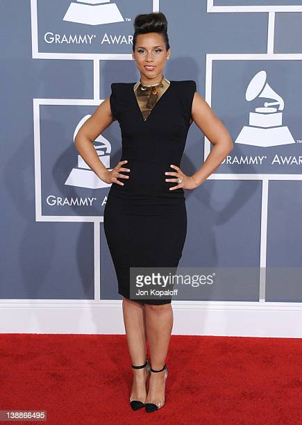 Musician Alicia Keys arrives at 54th Annual GRAMMY Awards held the at Staples Center on February 12 2012 in Los Angeles California