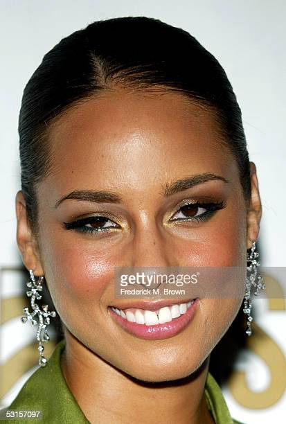 Musician Alicia Keys arrives to ASCAP's 18th Annual Rhythm and Soul Music Awards Gala at the Beverly Hills Hilton on June 27 2005 in Beverly Hills...