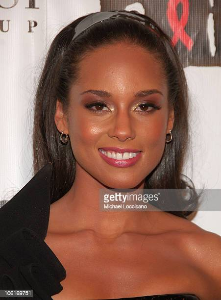 Musician Alicia Keys attends 4th Annual Black Ball Concert For Keep A Child Alive at the Hammerstein Ballroom on October 25 2007 in New York City