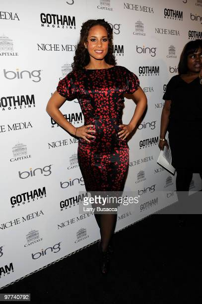 Musician Alicia Keys attends Gotham Magazine's Annual Gala hosted by Alicia Keys and presented by Bing at Capitale on March 15 2010 in New York City