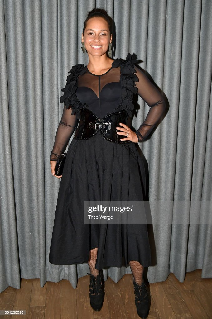 Musician Alicia Keys attends the Brooklyn Artists Ball 2017 at Brooklyn Museum on April 3, 2017 in New York City.