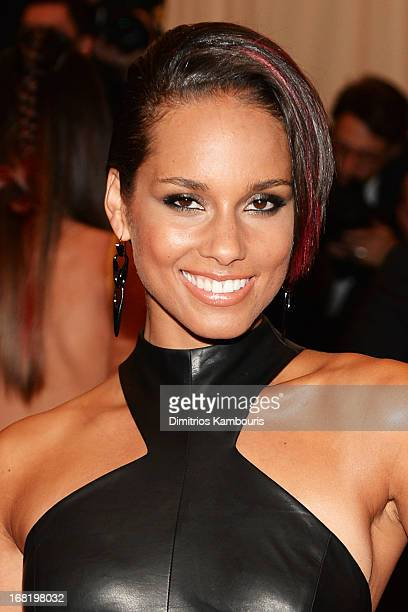 Musician Alicia Keys attends the Costume Institute Gala for the 'PUNK Chaos to Couture' exhibition at the Metropolitan Museum of Art on May 6 2013 in...