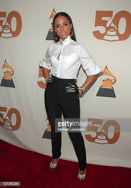 Musician Alicia Keys attends the Recording Academy New York Chapter's Tribute to Bon Jovi Alicia Keys Donnie McClurkin and the creators of West Side...