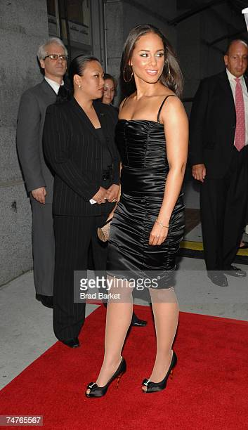 Musician Alicia Keys attends the Samsung's Annual Four Seasons of Hope Gala at Cipriani Wall Street June 18 2007 in New York City
