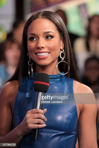 Musician Alicia Keys during MTV's Total Request Live at the MTV Times Square Studios on November 13 2007 in New York City