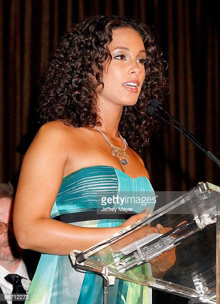 Musician Alicia Keys onstage during the 22nd annual ASCAP Rhythm and Soul Awards held at The Beverly Hilton Hotel on June 26 2009 in Beverly Hills...