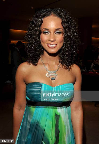 Musician Alicia Keys poses in the press room during the 22nd annual ASCAP Rhythm and Soul Awards held at The Beverly Hilton Hotel on June 26 2009 in...