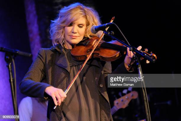 Musician Alison Krauss performs live on stage for Southern Blood Celebrating Gregg Allman at City Winery on January 24 2018 in New York City