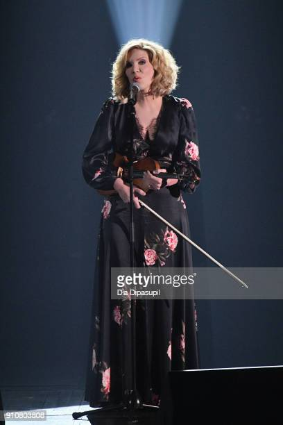 Musician Alison Krauss performs onstage during MusiCares Person of the Year honoring Fleetwood Mac at Radio City Music Hall on January 26 2018 in New...