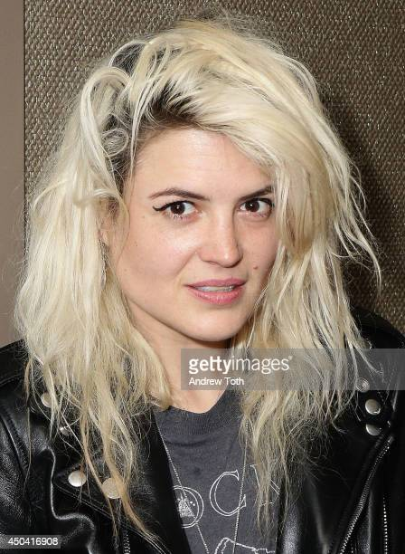 Musician Alison Mosshart of band The Kills attends Jamie Hince's 'Echo Home' Exhibition Opening after party at Soho Grand Hotel on June 10 2014 in...
